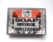 Motor Oil and Leather Ultimate Man Handmade  Soap