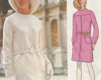 Bust 32 1/2-FACTORY FOLDED 60's Misses' Dress Vogue Couturier Design Valentino of Italy 2084 Size 10