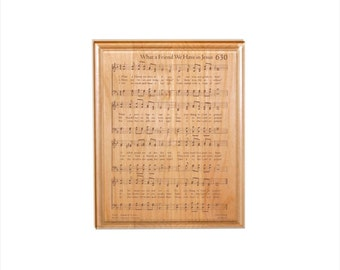 What a Friend We Have in Jesus Hymn Plaque - Engraved Solid Alder Wood - Christian Gift - Religious Wall Decor, Housewarming Gift
