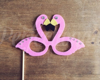 Pink Flamingo Glasses Prop | Beach Photo Booth Props | Flamingo Decorations | Flamingo Photo Props