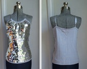 Silver Sequins Top// Size M