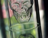 "Custom Engraved 2 Ounce Crystal Glass ""Skull"" Shot Glass - Engraving Included"