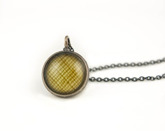 Layering Necklaces, Gift for Her, Yellow Necklace, Antiqued Silver Pendant on Oxidized 925 Sterling Silver Chain, Photography Jewelry