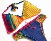 Crochet Bikini Top Bikini Bottom Women Swimwear Swimsuit Summer Beach Wear Bathingsuit Festival Clothing Gifts For Her / senoaccessory
