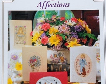 75%OFF Linda Jary Design AFFECTIONS Greeting Cards by Just Cross Stitch  - Counted Cross Stitch Pattern Chart