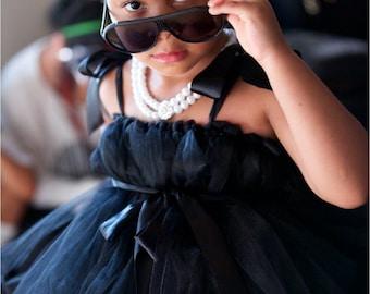 Audrey Hepburn Inspired Little Black TuTu Dress