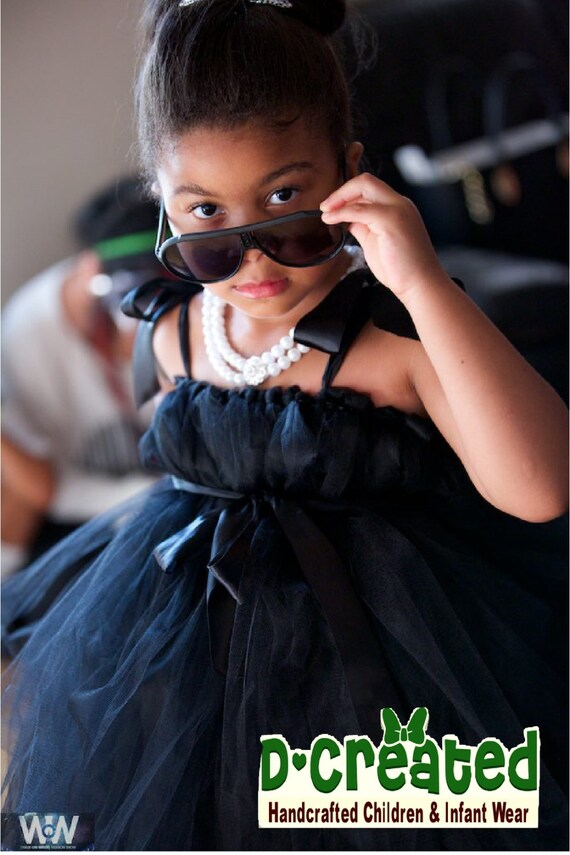 Audrey Hepburn Inspired Little Black TuTu Dress