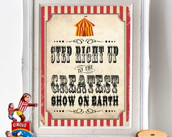 Vintage Circus Party Posters/Signs - INSTANT DOWNLOAD - Printable Party Decorations by Sassaby