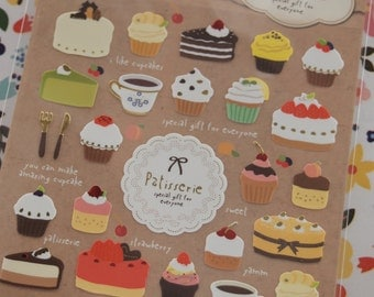 Patisserie Dessert / Cupcake Sticker (1 Sheet)