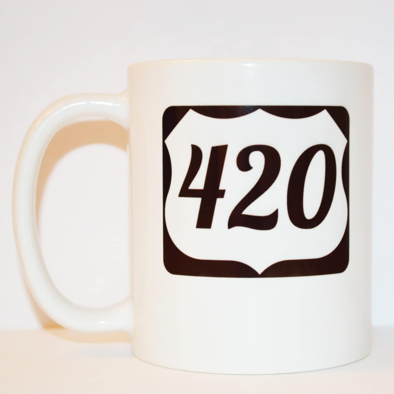 Coffee Mug Highway 420 Mug Travel Mug Unique Mug By