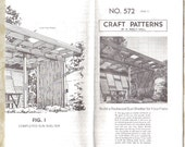 VINTAGE PROJECT SHEET for Redwood Sun Shelter - 1981 - California Style