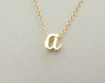 Petite Gold Initial Charm Necklace - Initial Necklace - Monogram Jewelry - Personalized Jewelry
