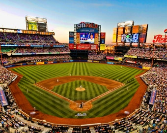 New York Mets, Baseball Photograph, Citi Field, Color Photography New York City, Sports, Subway Series, Art print, 8X12, Man Cave