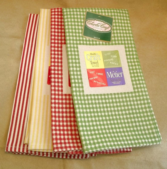 Charles craft multi craft huck towels for Charles craft christmas stockings