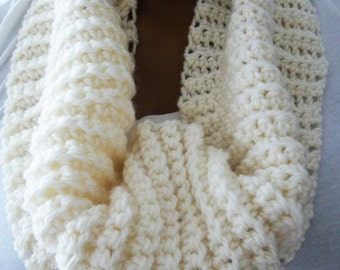 cream ribbed cowl
