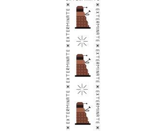 Doctor Who Bookmark Pattern - Daleks