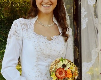 Forever Bouquet with Vintage Brooch Blooms in all Mediums