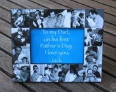 """Baby Photo Collage Frame, New Father Picture Frame, Father of the Bride Gift, Personalized Parent's Wedding Thank You Gift, 5"""" x 7"""" Frame"""