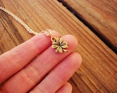 Minimalist lucky four leaf clover on gold plated chain