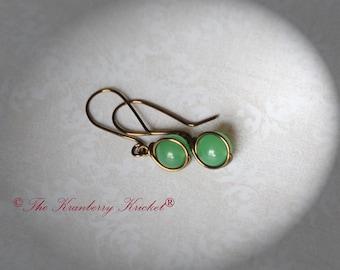 Green Jade Gemstone Earrings in Bronze, Yoga Chakra Healing Ring, Anahata, Reiki Earrings, 4th chakra, Heart Chakra support