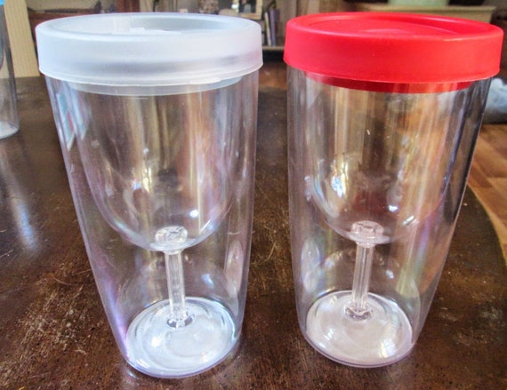 Items similar to wine glass sippy cup travel wine glass Wine glasses to go