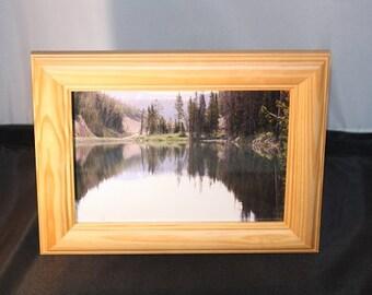Reflecting Lake Landscape - 7 x 9 inch frame