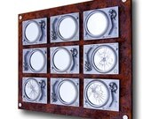 DECAY - Technics Turntable Mirror Sculpture - OOAK - Silver & Rust  - DJ - Music - Vinyl - Art
