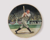 "Babe Ruth ""The Called Shot"" Collector Plate - 1992 Delphi 8 1/4"" Limited Edition Display Plate - New York Yankees Baseball"