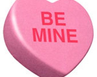 Candy Valentine Heart - Digital Image - Vintage Art Illustration