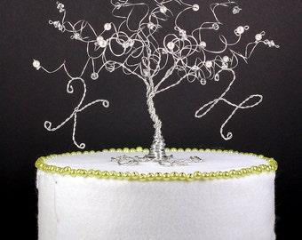 Winter Wedding Tree Cake Topper Custom Wire Tree Sculpture