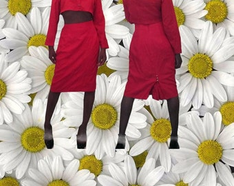 90s crop top skirt set size medium large 8 10 matching set
