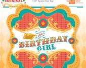 Circus Birthday Girl Chair Sign - Vintage Carnival Party Sign - DIY - Do-It-Yourself Printables - Instant Download Printable Chair Sign