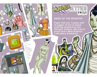 Monster Betties - Fritzi Paper Doll
