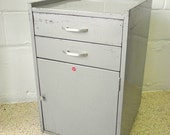 Industrial Metal Cabinet Side End Table - Storage Night Stand - Media TV center -  ALL ORIGINAL