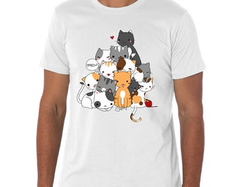 White Meowntain t-shirt