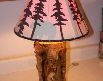 Aspen table lamp - Rustic home decor, Log cabin decor, Rustic furniture, Log lamp, Rustic lamp