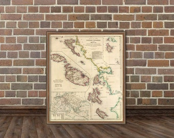 Malta map - Old map of Ionian Islands - Historic maps