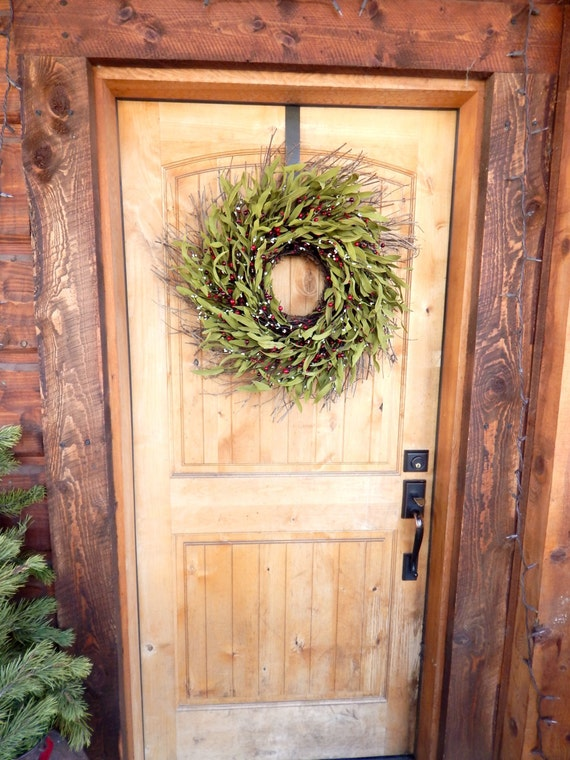 Winter Door Wreath Rustic Home Decor Twig Wreath Fall Twig