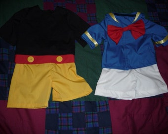 Donald Duck or Mickey Mouse Costumes