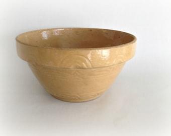 Robinson Ransbottom Yellow Ware Large Mixing Bowl Art Deco Pottery