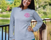 Monogrammed Long Sleeve Shirt with Small Elegant Front Monogram