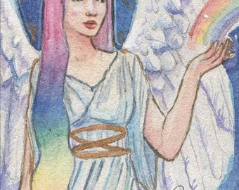 Rainbow Goddess Iris Limited edition ACEO/ ATC print