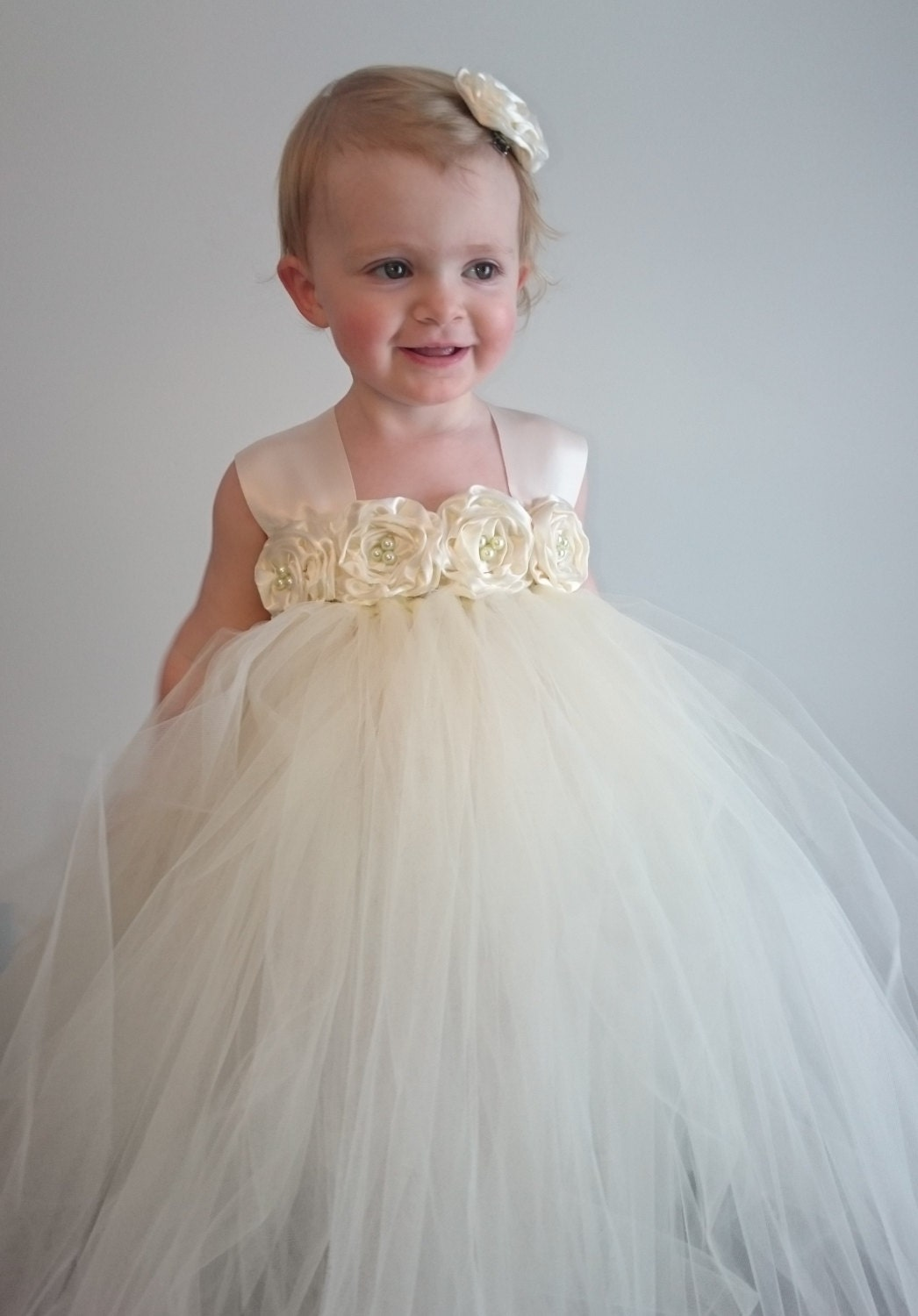 Ivory Flower Girl Tutu Dress Ivory Flower Girl Dress Ivory