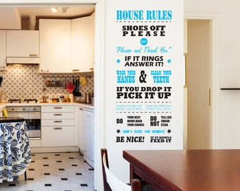 House Rules 2 Removable Wall Decal