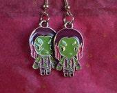 Guardians of the Galaxy, Gamora, Gamora Earrings, Movie Jewelry, Geek Jewelry