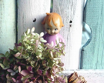 SALE Antique German Google Eye Kewpie Figurine Doll Pink Cutie TOO PRECIOUS