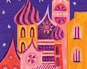 Dream City Illustration - Archival Print