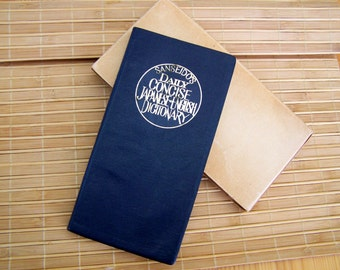 """Vintage 60's """"SANSIDO'S DAiLY CONCiSE JAPANESE-ENGLiSH DiCTIONARY"""" A Pocketbook Style with Cover"""