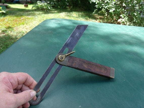 Vintage Wood Tools Stanley Tools Angle Finder Wooden angle