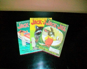 3 Jack and Jill Magazines Vintage 1970 Children's Books